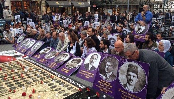 Tünel'de Soykırım anması: Irkçılık, savaş politikaları kader değil
