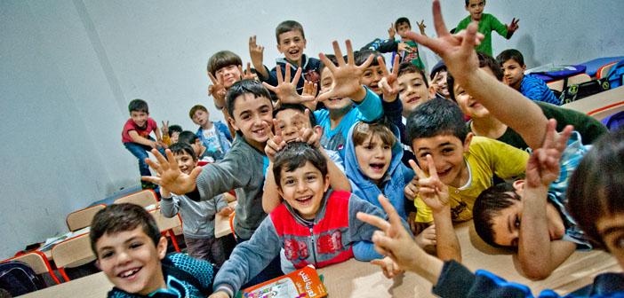 Eğitim mülteci çocukların da hakkı