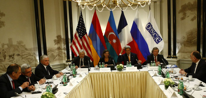 Sargsyan and Aliyev come together with OSCE group