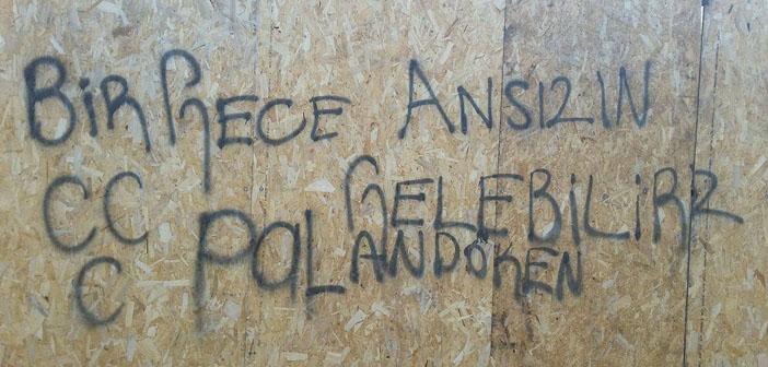 Erzurum'da ırkçı duvar yazıları