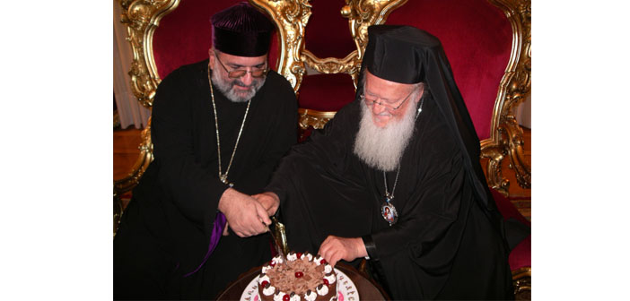 Altmışıncı yaş için Patrik II. Mesrob'a armağan