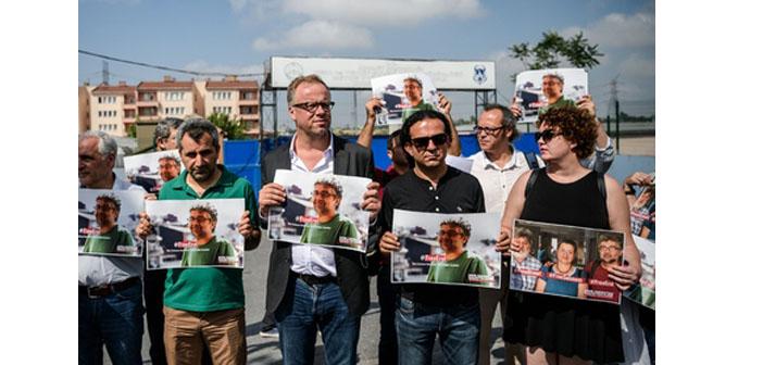Metris'in önünde Fincancı, Önderoğlu ve Nesin için eylem