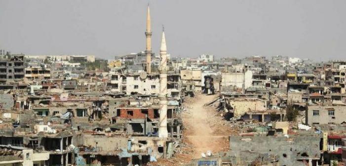 Kısmen kaldırılan sokağa çıkma yasağının ardından Nusaybin