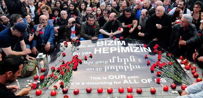 1995'ten 2015'e basında Ermeni Soykırımı'nı anma günü