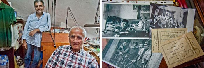 Misak Voskanyan ve oğlu atölyelerinde
