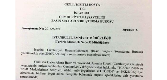 Cumhuriyet Gazetesi soruşturmasına gizlilik kararı