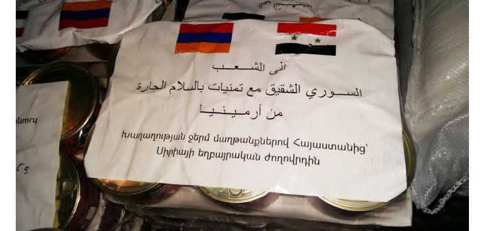 Humanitarian aid from Armenia to Aleppo