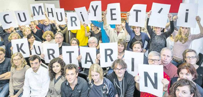 TAZ Gazetesi'nden Cumhuriyet'e destek