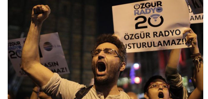 Demonstration for press freedom in Istanbul