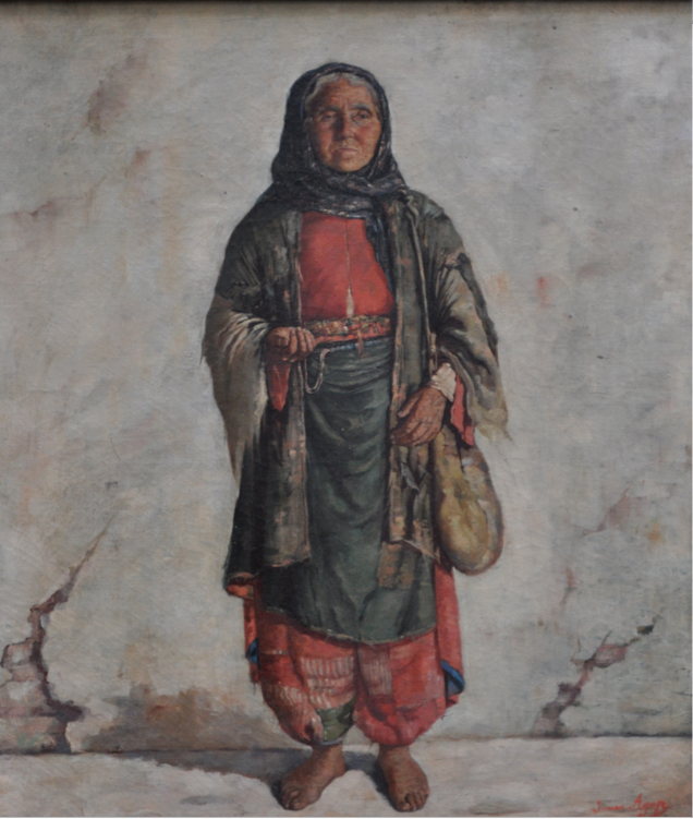 Simon Hagopian (1857-1921) Beggar Woman from Van, 1889, oil on canvas, 55 x 46 cm, Ayda and Onno Ayvaz Collection, İstanbul.