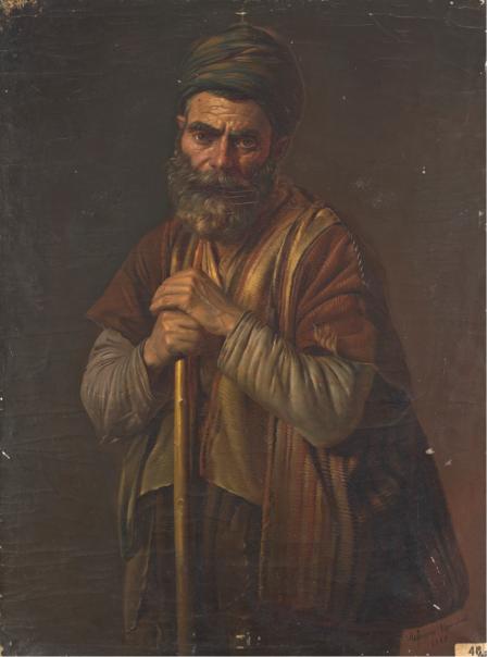 Bedros Srabian (1833-1898) Van, Armenian Beggar (Վանեցի Հայ Մուրացիկը)