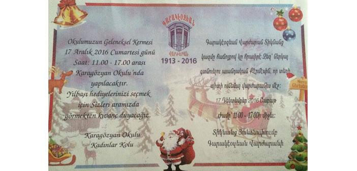 Karagözyan'da yılbaşı kermesi
