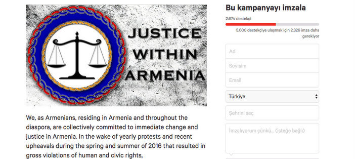 Artists in diaspora demand justice in Armenia