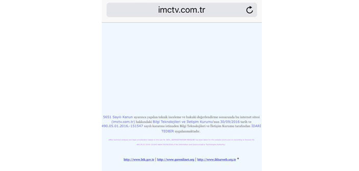 Censorship spreads to websites: Özgür Radyo, Hayatın Sesi and IMC TV blocked