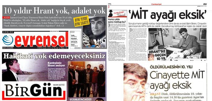 Bugünün köşe yazılarında Hrant Dink