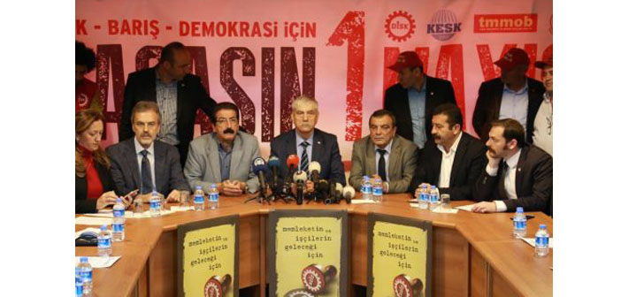 DİSK, KESK, TTB ve TMMOB'un 1 Mayıs adresi Bakırköy