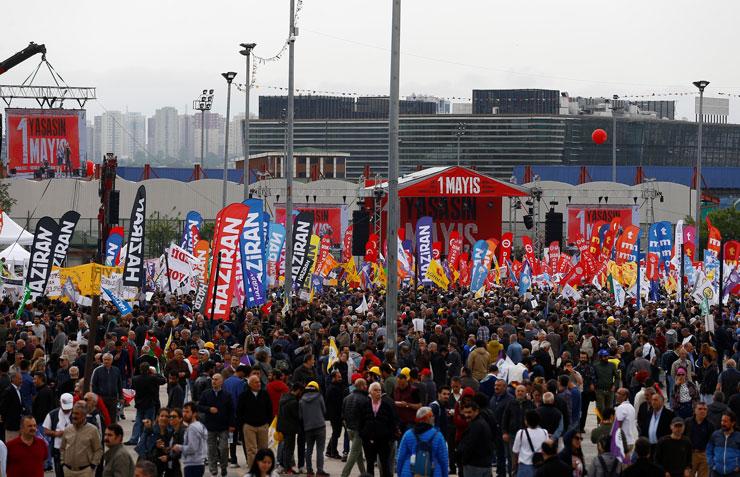 Bakırköy'de 'Hayır biz kazandık' mesajı