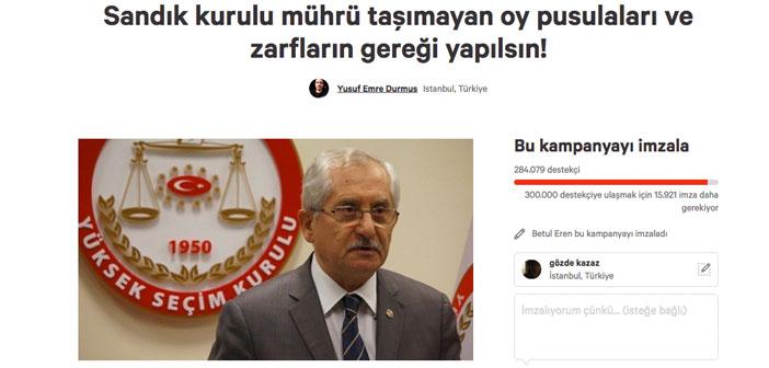 YSK'nın 'mühürsüz oy pusulası' kararına karşı imza kampanyası