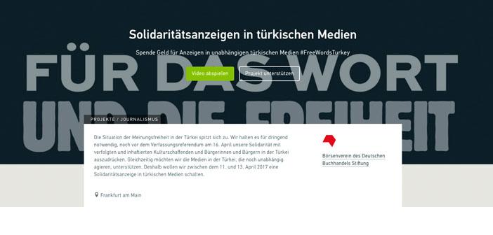 Almanya yayınevlerinden bağımsız medyaya destek kampanyası