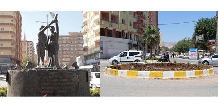 Kayyum belediye Uğur Kaymaz heykelini kaldırttı
