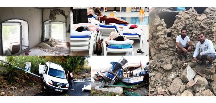 Ege açıklarındaki depremin ardından tsunami