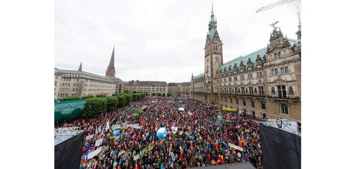Hamburg'daki G20 protestolarında 44 gözaltı