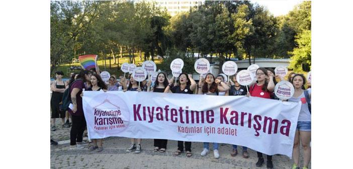 Maçka Parkı'nda güvenlikçi tacizi protesto edildi