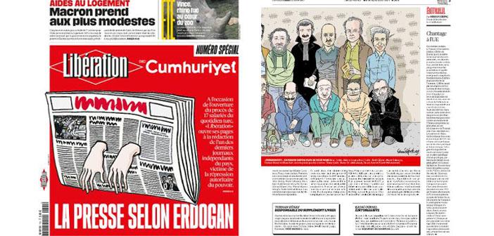 Libération'dan tutuklu gazeteciler için özel sayı
