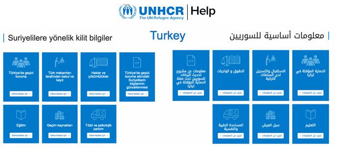 BM'nin Türkiye'deki mülteciler için hazırladığı yardım sitesi yayında