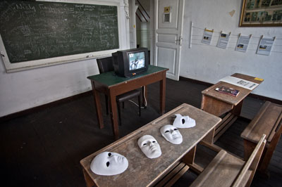 A room in the Greek Primary School is devoted to the Baklahorani Masquerade.