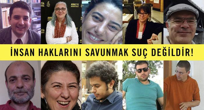 Hak savunucuları 25 Ekim'de hakim karşısında
