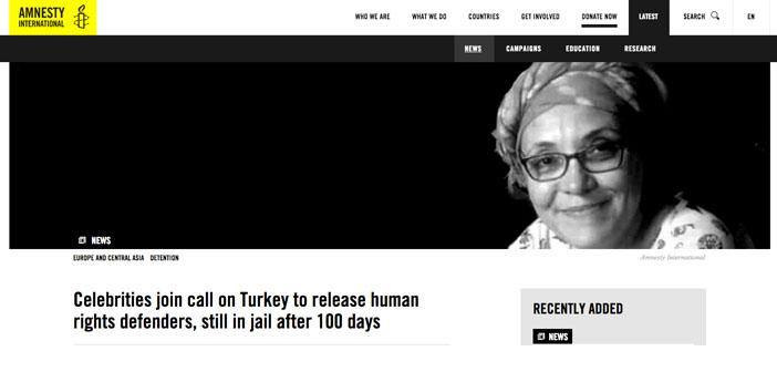 Hollywood'dan çağrı: İnsan hakları savunucularını serbest bırakın