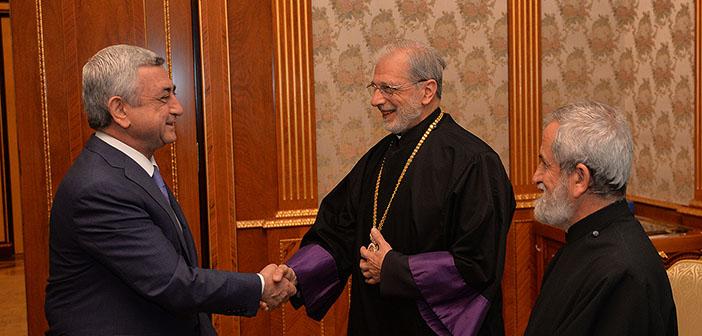 Cumhurbaşkanı Sarkisyan, Levon Zekiyan'ı kabul etti