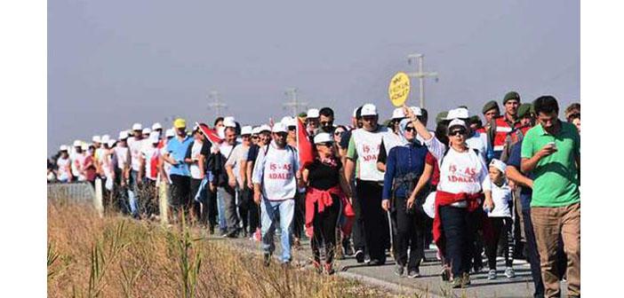 Lüleburgaz'dan İstanbul'a yürüyen cam işçilerine Valilik engeli