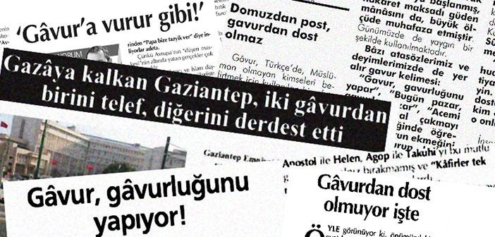'Yazılı Basında Gâvur Söylemi' raporu yarın Havak Salonu'nda