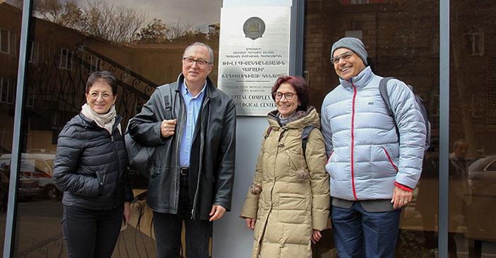 Soldan Prof. Dr. Huri Özdoğan, Prof. Dr. Oğuz Söylemezoğlu, Prof. Dr. Fatoş Yalçınkaya ve Prof. Dr. Cem Sungur