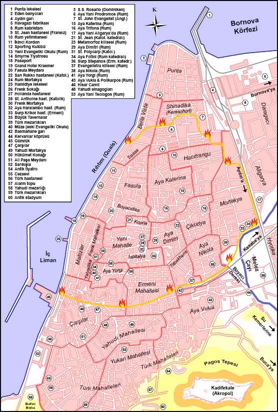 İzmir'in ilk haritalarından biri