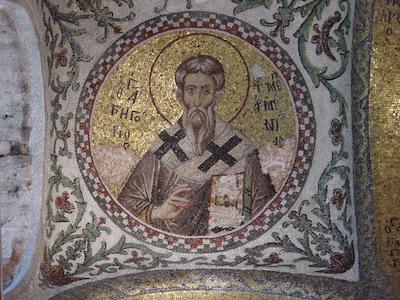 Fethiye Camii, eski  Pamakaristos Kilisesi'nde bulunan Aydınlatıcı Krikor mozaiği