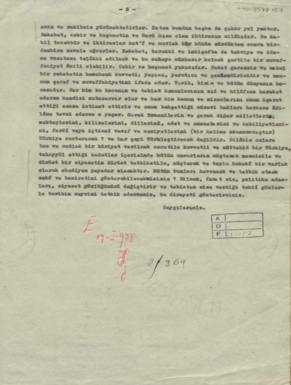 Mektubun son sayfası
