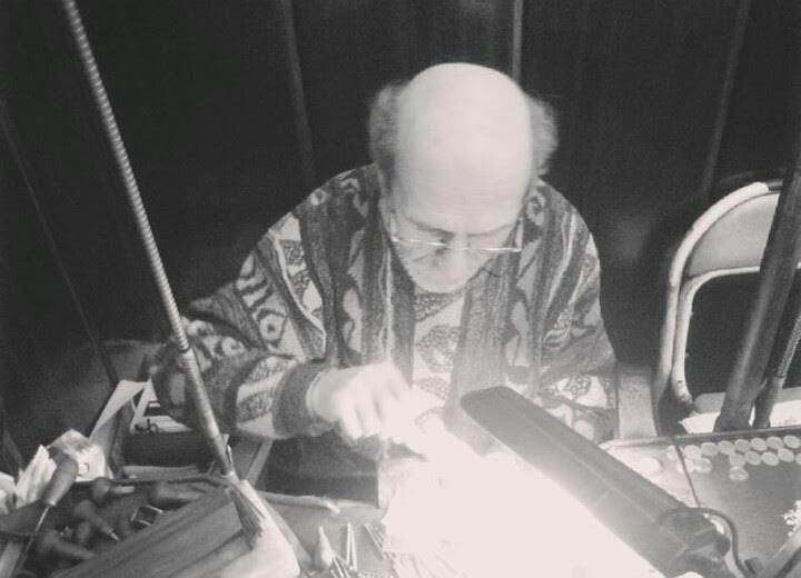 Babam Hagop Bododoğan tezgahında