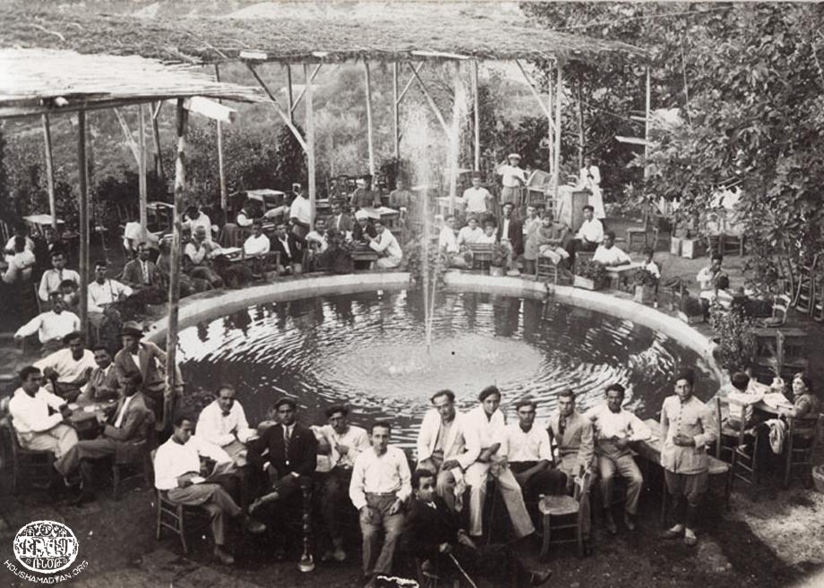 Hetum Filyan'ın Bityas köyündeki kahvesi (Musa Dağı), 1930'lar (Kaynak; Ermenistan Musa Dağlılar Derneği koleksiyonu, Houshamadyan).