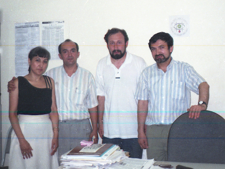 Journalists from Armenia and Azerbaijan in Baku, 1999
