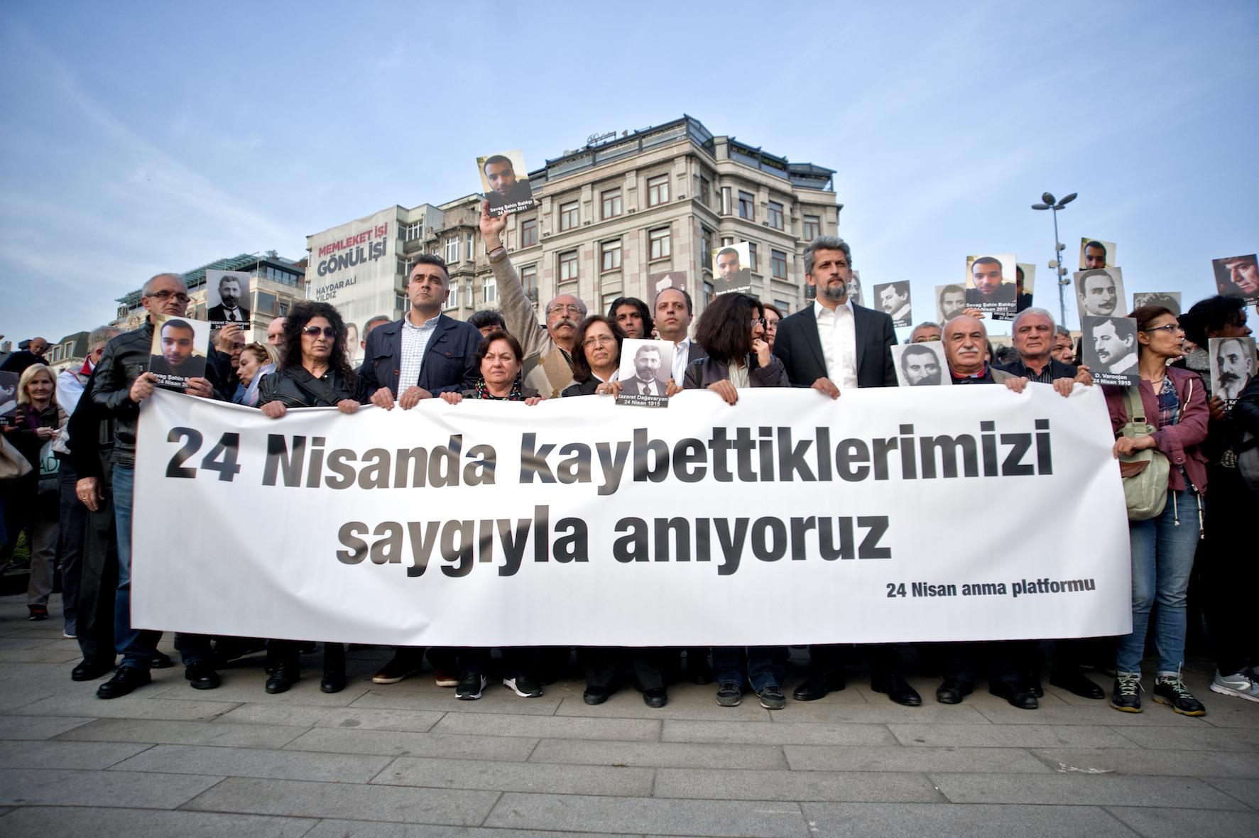 Şişhane'de 24 Nisan anması: 'Yüzleşme mücadelesi devam etmek zorunda'