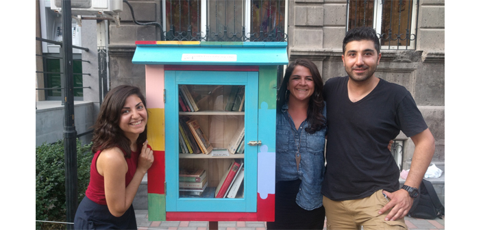 Free little libraries in Yerevan now