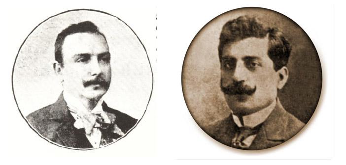 Krikor Zohrab(solda) ve Vartkes Serengülyan