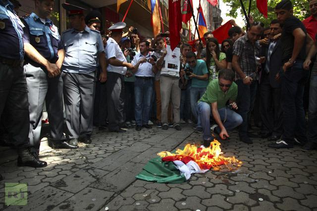 Ramil Seferov'un iadesi Ermenistan'da protesto edildi