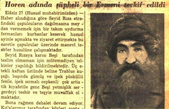 Seyit Rıza Ermeni miydi?