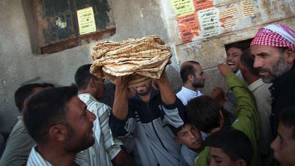Halep'te artık ekmek de yok