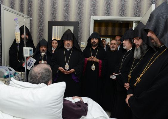 Samatya'da dualar II. Mesrob içindi