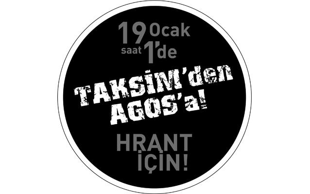 19 Ocak'ta Hrant Dink için yürüyoruz